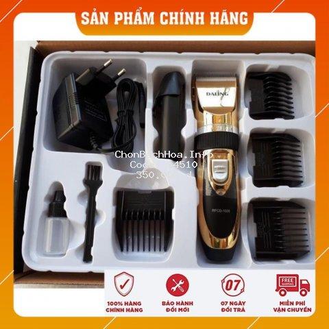 [BH 12 Tháng] Tông đơ cắt tóc Daling 1006 công suất 12W kèm pin dự phòng, máy cắt tóc hớt tóc