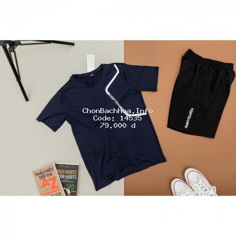 Bộ quần áo thể thao nam bộ đồ nam thun lạnh 6 màu KEEP TRAINING THE1992 01