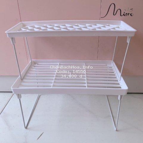 Kệ giá để đồ đa năng có thể gấp gọn,dễ dàng vệ sinh, đặt bàn học/ phòng bếp có thể xếp thành 2 tầng