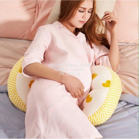 [LIKADO] Gối bầu kích thước(40x22x76cm), vải 100% cotton ruột bông nhân tạo