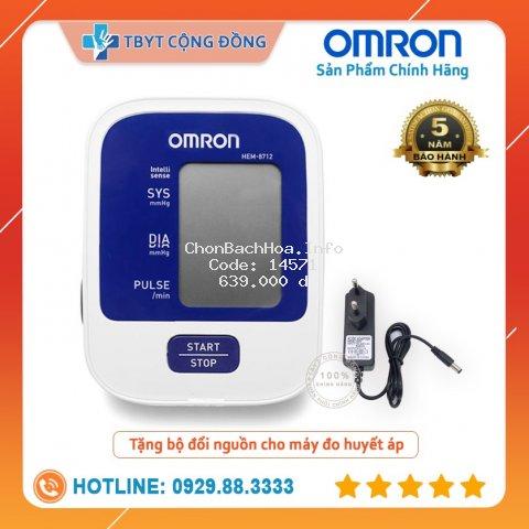 Máy đo huyết áp bắp tay Omron HEM - 8712 + Tặng Bộ Đổi Nguồn ( Bảo Hành 5 Năm Chính Hãng )