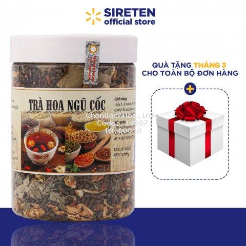 Trà hoa ngũ cốc 500g mát gan, trà hoa thương hiệu Việt giải độc, thanh nhiệt cơ thể - TNC