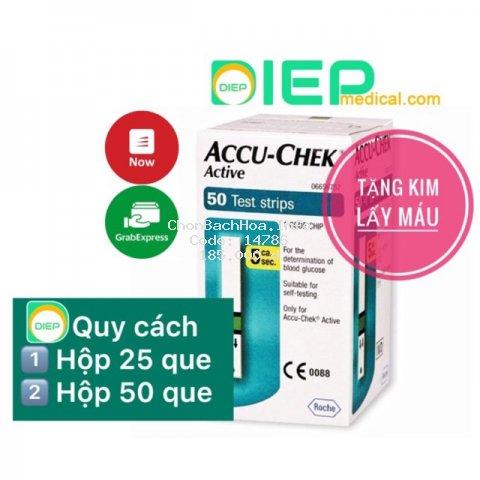 ✅ ACCU CHEK ACTIVE 25 que hoặc 50 que - Que thử đường huyết chính hãng Accu-chek Active