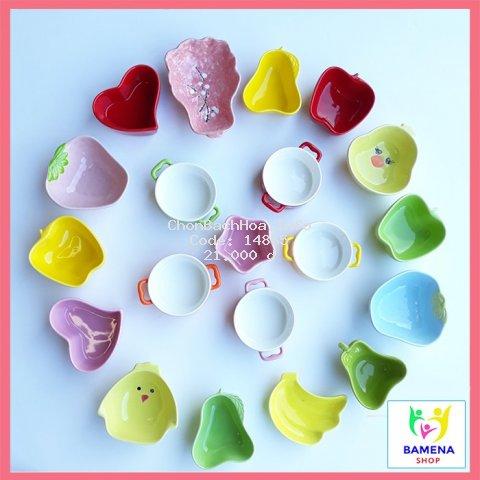 Bát ăn dặm gốm sứ cao cấp kiểu nhật nhiều hình dáng màu sắc đa dạng dành cho bé