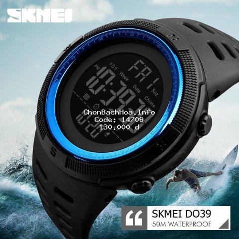 Đồng hồ thể thao nam SKMEI DO39 Dây Cao su Chống Nước Bơi Lội Hot Nhất 2019