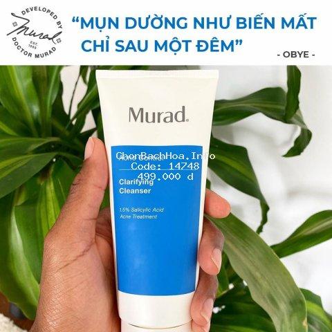 [GIÁ SỐC] Sữa Rửa Mặt Cải Thiện Da Và Xóa Mụn, Kiểm Soát Dầu Murad Clarifying Cleanser Acne