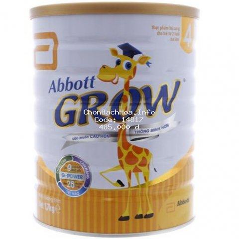 [Mã FMCG8 giảm 8% đơn 500K] Sữa bột Abbott Grow 4 1,7kg (từ 2 tuổi trở lên)