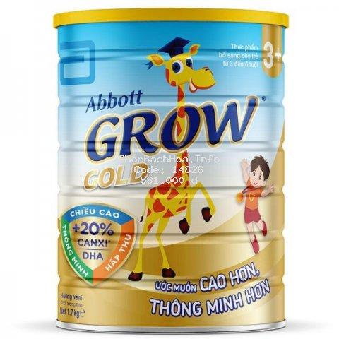 [Mã FMCG8 giảm 8% đơn 500K] Sữa bột Abbott Grow Gold 3+ 1,7kg (3 - 6 tuổi)