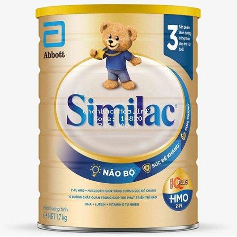 [Mã FMCG8 giảm 8% đơn 500K] Sữa Bột Similac 3 HMO 1,7kg