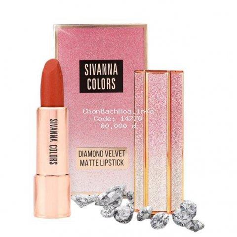 Son Thỏi Lì Diamond Velvet Matte Lipstick Sivanna HF6019