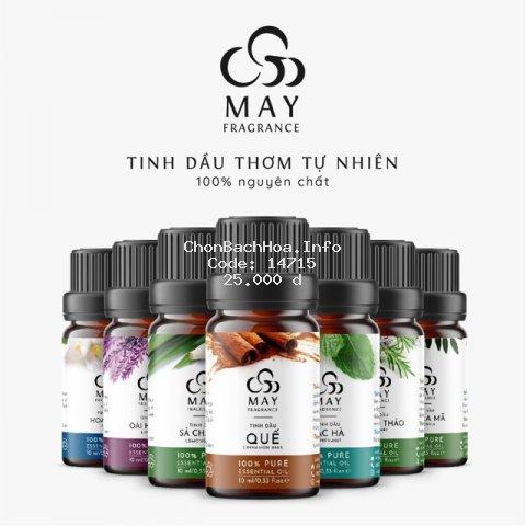 Tinh dầu thiên nhiên nguyên chất thơm phòng ngủ May Fragrance lọ 10 ml | Có kiểm nghiệm GC - MS
