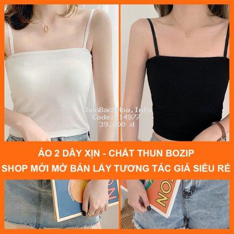 Áo hai dây croptop nữ dáng ôm MADELA, áo 2 dây croptop nữ dáng ôm cotton bozip siêu đẹp