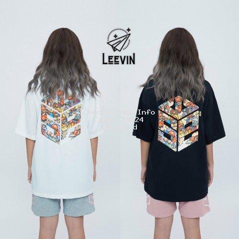 Áo Thun Form Rộng Unisex SWE Cube MOZZIE Nam Nữ - Kiểu áo phông nữ tay lỡ Ulzzang Nelly Leevin Store