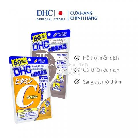 Combo Viên uống DHC Ngừa mụn - Mờ thâm 60 Ngày (Kẽm & Vitamin C)