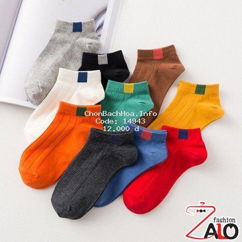 Compo 2 Tất vớ Ulzzang gân 10 màu kiểu dáng thời trang Hàn Quốc TN04
