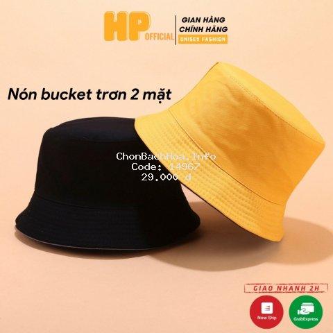 Mũ bucket trơn ❤️ Nón tai bèo vành tròn trơn nhiều màu sắc Ulzzang form unisex nam nữ - BK02