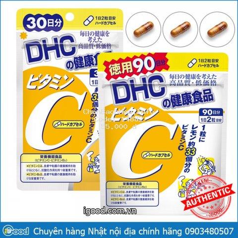 Viên uống vitamin C DHC Hard Capsule Nhật Bản (date 2023)