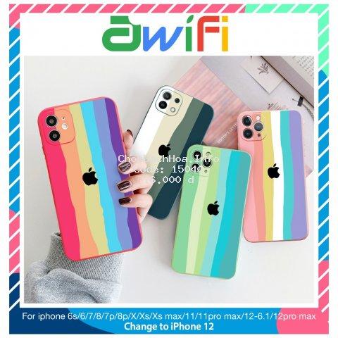 Ốp lưng iphone Pastel Color cạnh vuông BVC 6plus/6s/6splus/7/7plus/8/8plus/x/xr/xs/11/12/pro/max/plus/promax-Awifi B2-9
