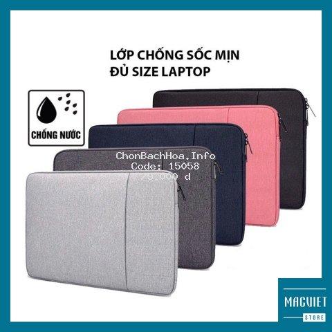 Túi Chống Sốc Laptop, Macbook ( Loại 2 Ngăn - 5 Màu) T009