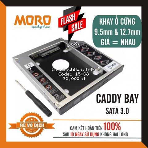 Caddy Bay HDD SSD SATA 3 9.5mm/12.7mm - Khay ổ cứng thay thế ổ DVD