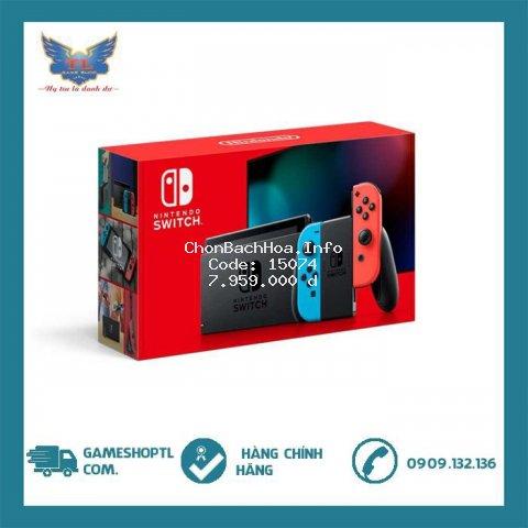 Máy Nintendo Switch V2 Neon Blue Và Red Joy‑Con - Model 2019 - Dung Lượng Pin Gấp Đôi