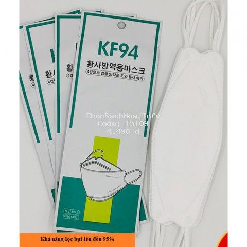 Khẩu trang KF94 xuất khẩu Hàn Quốc, chống bụi mịn PM2.5