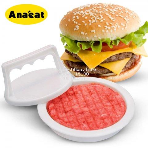Dụng cụ ép thịt nướng làm bánh hamburger ANAEAT bằng nhựa tiện lợi cho nhà bếp