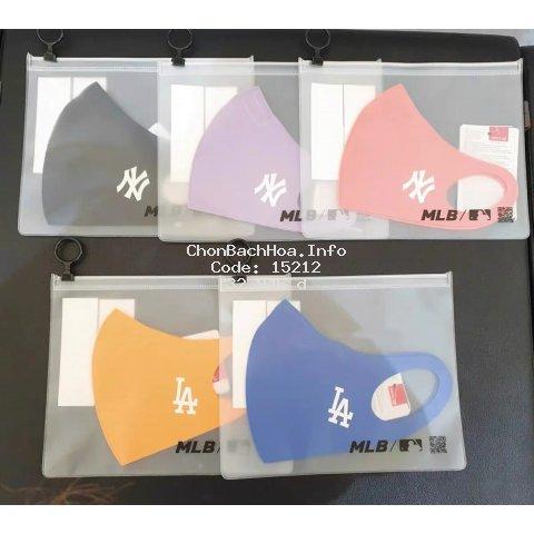 Khẩu trang MLB NY LA bằng cotton nguyên chất thoáng khí chống bụi và khói mù thời trang Hàn Quốc