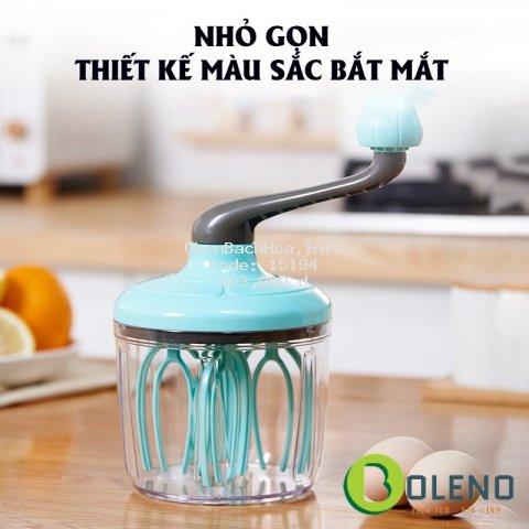 Máy đánh trứng cầm tay mini - Dụng cụ đánh kem làm bánh thông minh tiện lợi