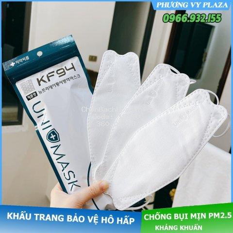 Thùng 300 Chiếc Khẩu trang 4 Lớp KF94 UNI MASK Chống Bụi Mịn Và Kháng Khuẩn Hàng Cao Cấp Hàn Quốc